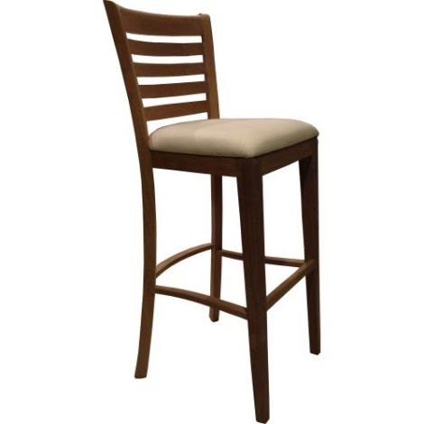 QUINNS BAR CHAIR WITH UPHOLSTERY SEAT